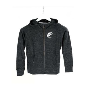 Nike Girls Black and Gray Just Do It Zip Up Hooded